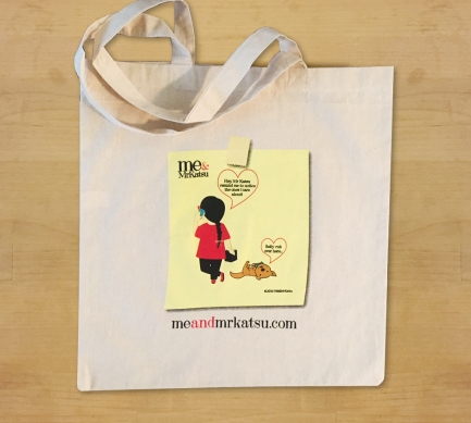 Me & Mr Katsu Blog Comic Tote Bag